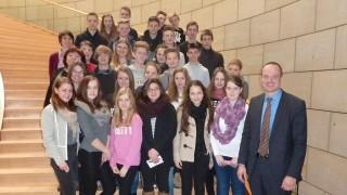 Neuntklässler der Gesamtschule Waldbröl erhielten Einblick in Landtagsarbeit