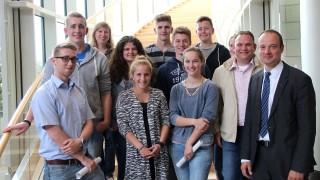 Kolping Jugend Morsbach besuchte Düsseldorfer Landtag